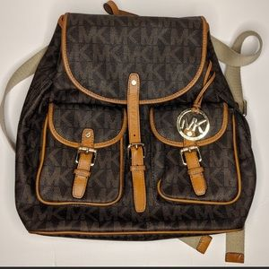 MICHAEL KORS | Jet Set MK Logo, Large backpack